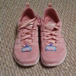 Pink Skechers Memory Foam Womens Shoes Size 6.5
